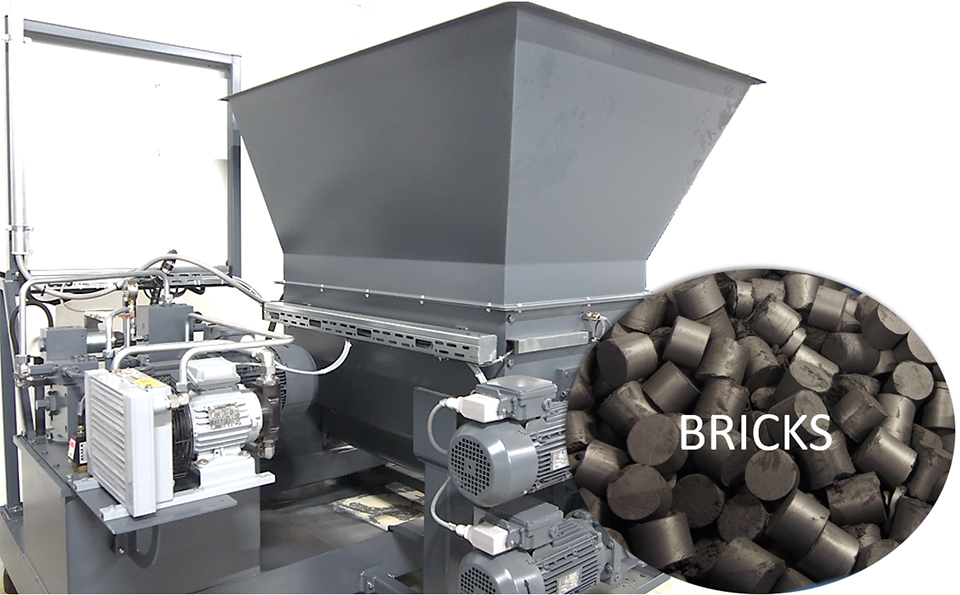 Jame-Shaft-environment-recycling-abrasive-waste-compressed-into-bricks
