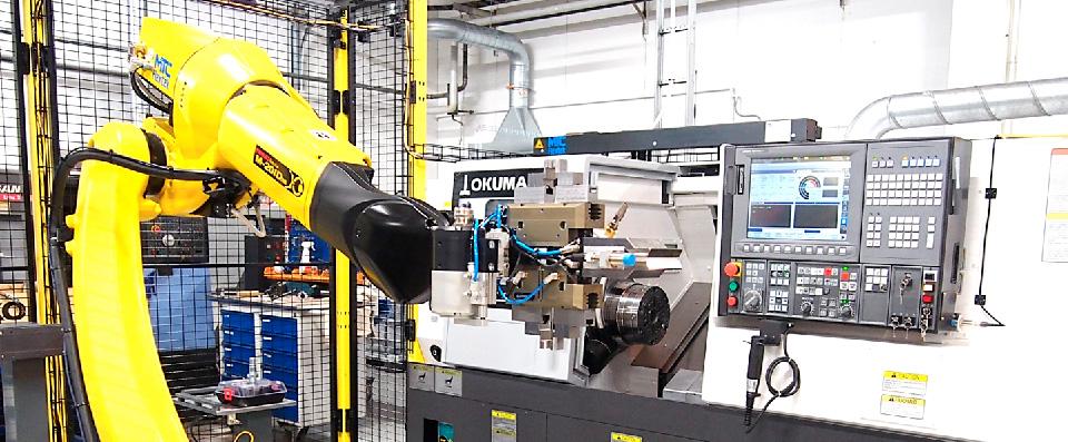 Jame-Shaft-turning-machine-large-parts-robot-cell